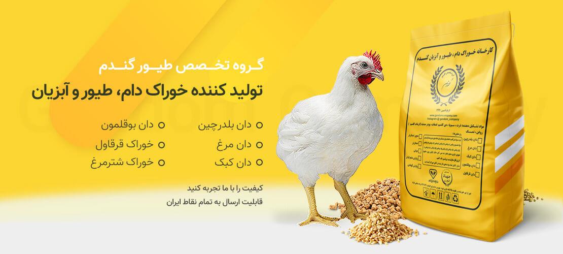 طیور گندم تولید کننده خوراک دام، طیور و آبزیتن